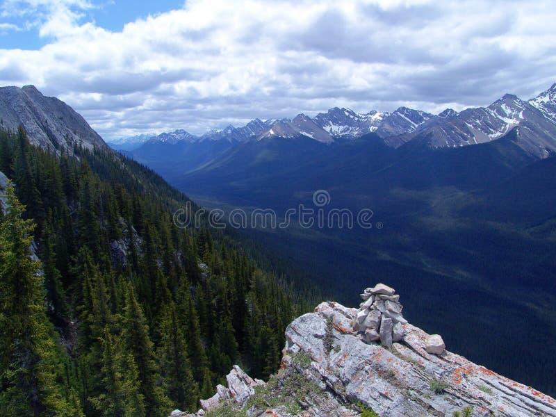 Sulphur mountain peak royalty free stock photography