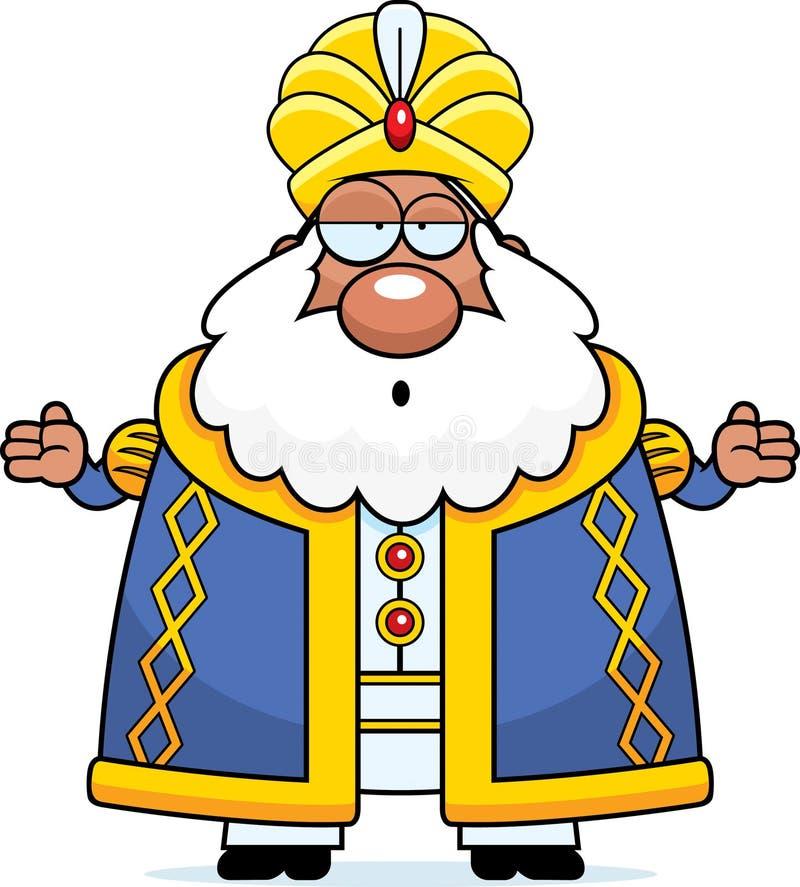 Sultán confuso de la historieta libre illustration