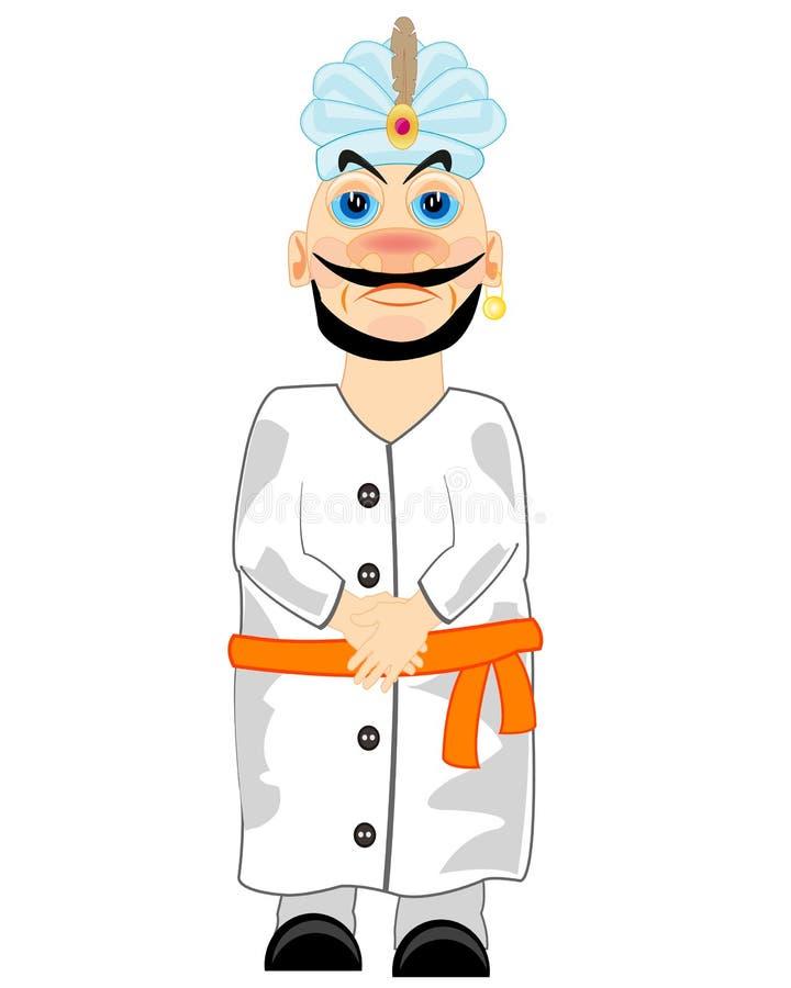Sultán en traje nacional ilustración del vector