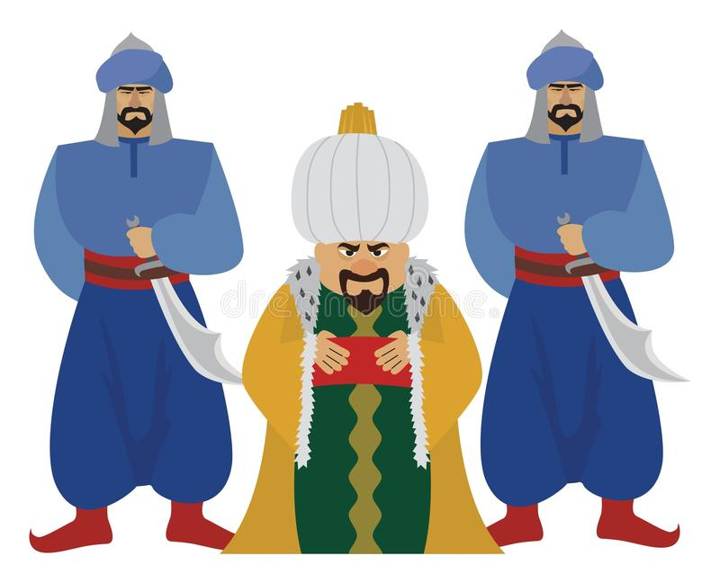 sultão ilustração royalty free