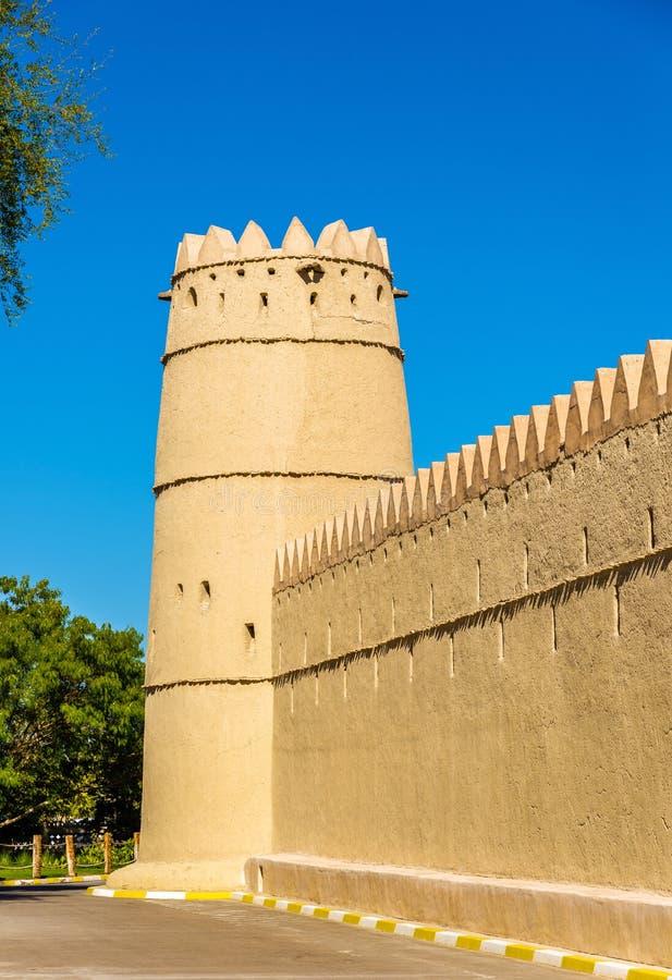 Sultan回教族长bin扎耶德Al Nahyan堡垒在艾因 图库摄影