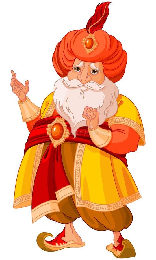 sultan ilustração royalty free