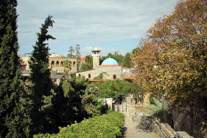 Sultan Abdul Majid Mosque i Byblos, Libanon royaltyfria bilder