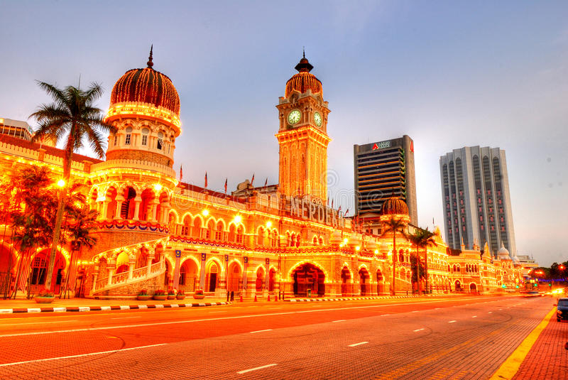 Sultan Abdul Samad. The Sultan Abdul Samad Building is located in front of the Dataran Merdeka and the Royal Selangor Club, by Jalan Raja in Kuala Lumpur royalty free stock photos