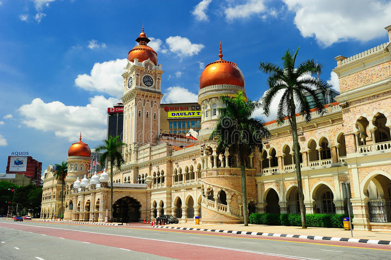 Sultan Abdul Samad Building. The Sultan Abdul Samad Building is located in front of the Dataran Merdeka (Independence Square) by Jalan Raja in Kuala Lumpur royalty free stock image