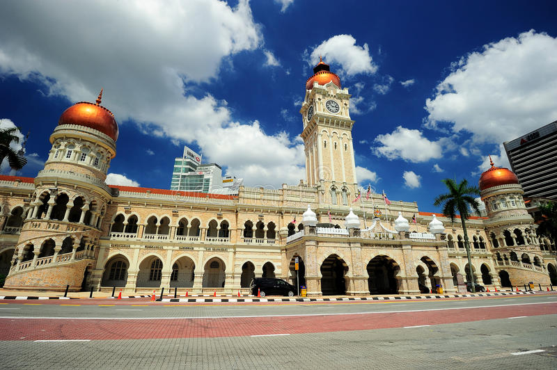 Sultan Abdul Samad Building. The Sultan Abdul Samad Building is located in front of the Dataran Merdeka (Independence Square) by Jalan Raja in Kuala Lumpur royalty free stock photography