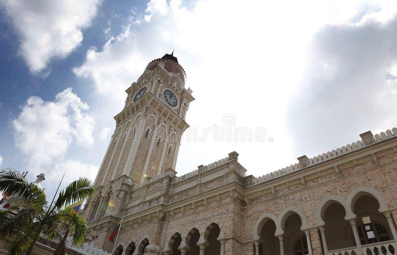 Sultan Abdul Samad Building fand vor dem Dataran Merdeka lizenzfreie stockfotos