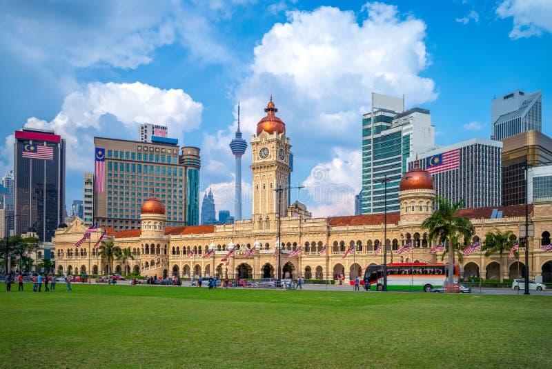 Sultan Abdul Samad Building i Kuala Lumpur, Malaysia royaltyfri foto