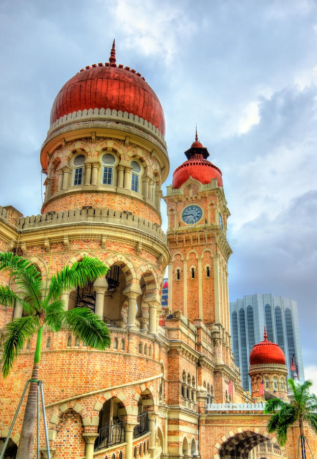 Sultan Abdul Samad Building in Kuala Lumpur. Built in 1897, it houses now offices of the Information Ministry. Malaysia stock images