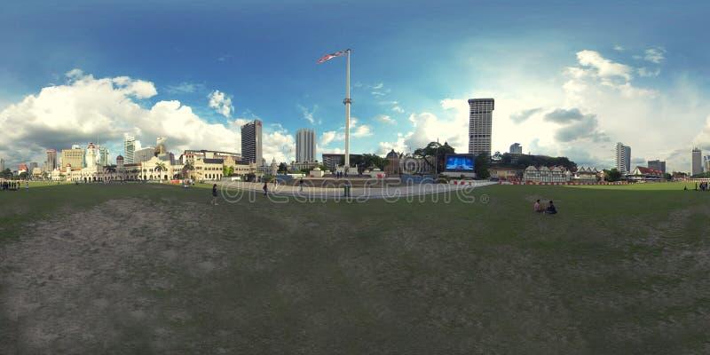 360 vr photo of Dataran Merdeka, Kuala Lumpur. stock images