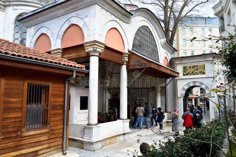 Sultan 1 Abdulhamit Khan Tomb, Istanbul Eminonu fotografering för bildbyråer
