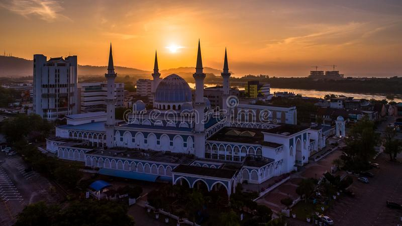 Sultan Ahmad Shah Mosque images stock