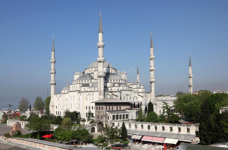 Sultan-Ahmed-Moschee, Istanbul stockfotos