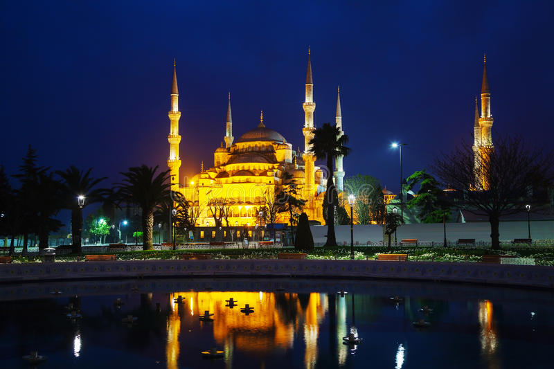 Sultan Ahmed Mosque (blaue Moschee) in Istanbul stockfoto