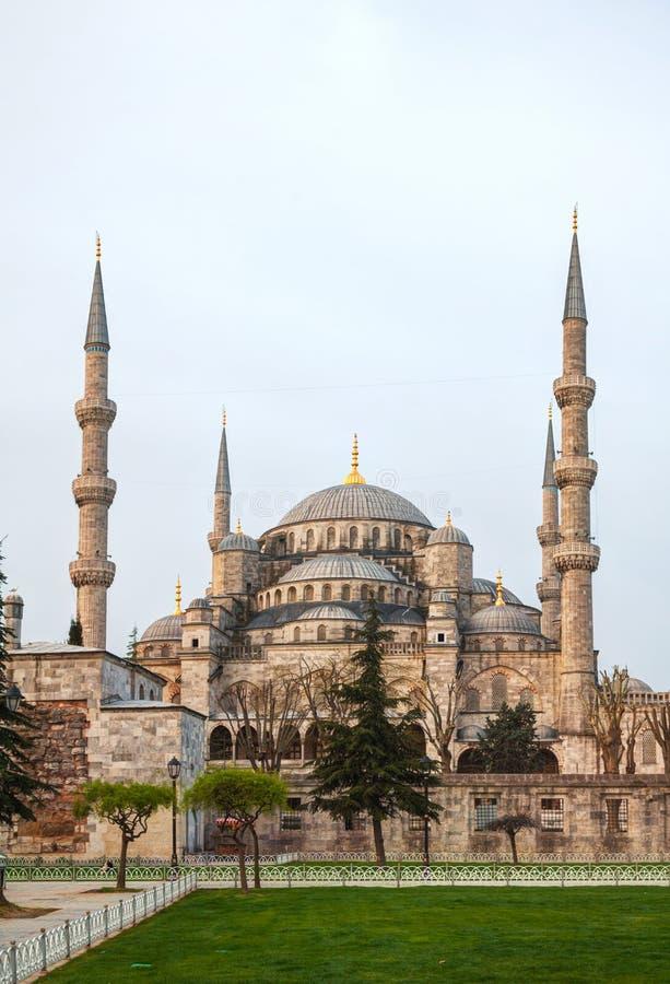 Sultan Ahmed Mosque (Blauwe Moskee) in Istanboel royalty-vrije stock afbeelding