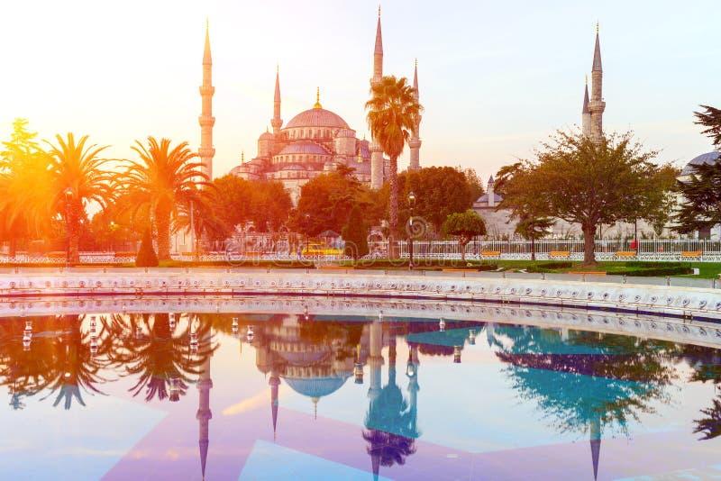 Sultan Ahmed Mosque & x28; Blauwe Mosque& x29; , Istanboel, Turkije stock foto