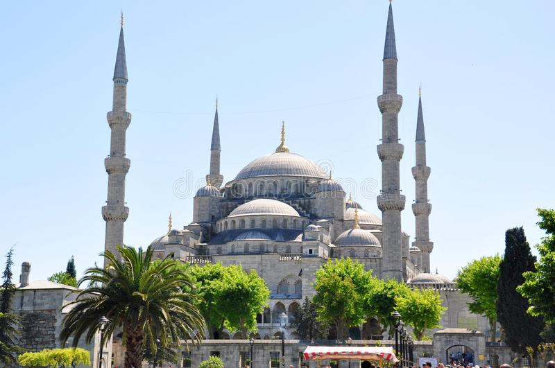 Sultan Ahmed Mosque Blue Mosque, Istanbul. Turkey. The Sultan Ahmed Mosque or Sultan Ahmet Mosque is a historic mosque located in Istanbul, Turkey. A popular stock photography