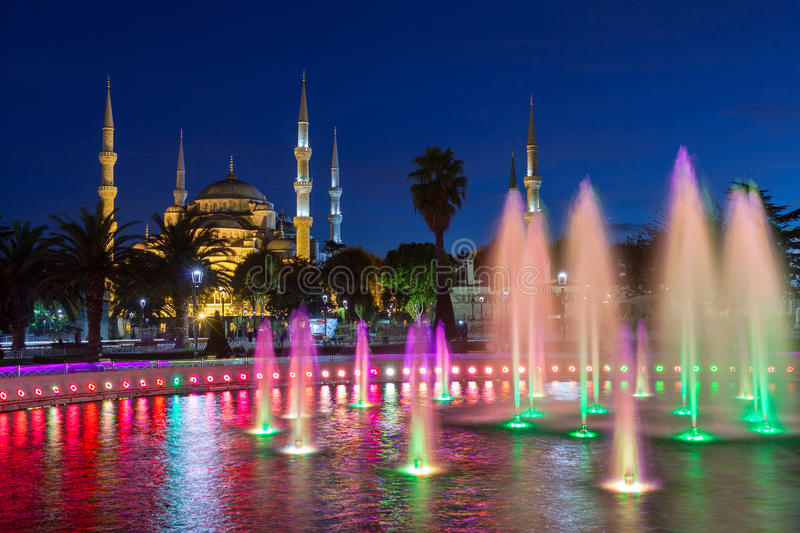 Sultan Ahmed Mosque Blue Mosque Istanbul, Turkiet royaltyfria foton