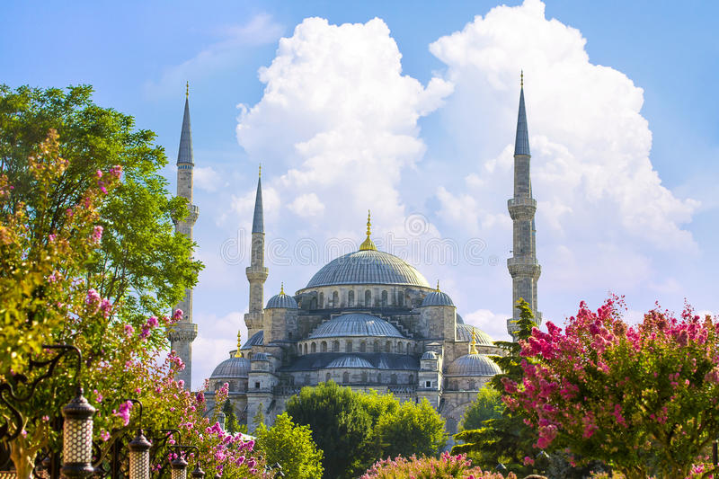 Sultan Ahmed Mosque Blue Mosque Istanbul, Turkiet arkivfoton