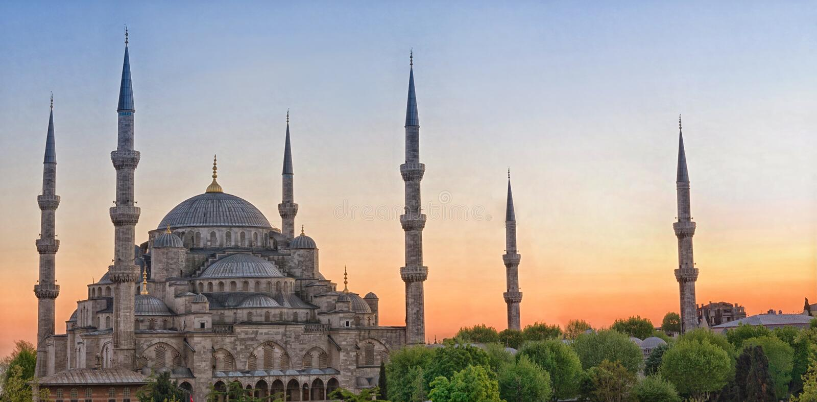 Sultan Ahmed Mosque a Costantinopoli La Turchia fotografie stock