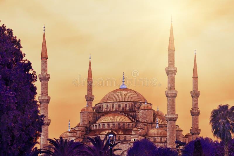 Sultan Ahmed Mosque eller blå moské royaltyfri bild