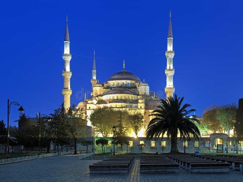 Sultan Ahmed Mosque am frühen Morgen, Istanbul, die Türkei stockfotografie