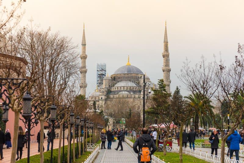 Sultan Ahmed Mosque, Istanbul, die Türkei lizenzfreie stockfotos