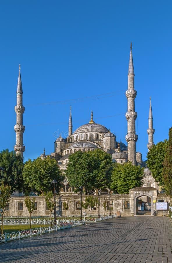 Sultan Ahmed Mosque Istanbul, Turkiet arkivbild