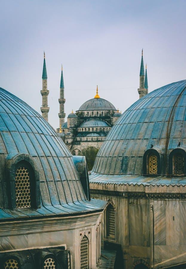 Sultan Ahmed Mosque/mesquita azul, Istambul, Turquia imagens de stock