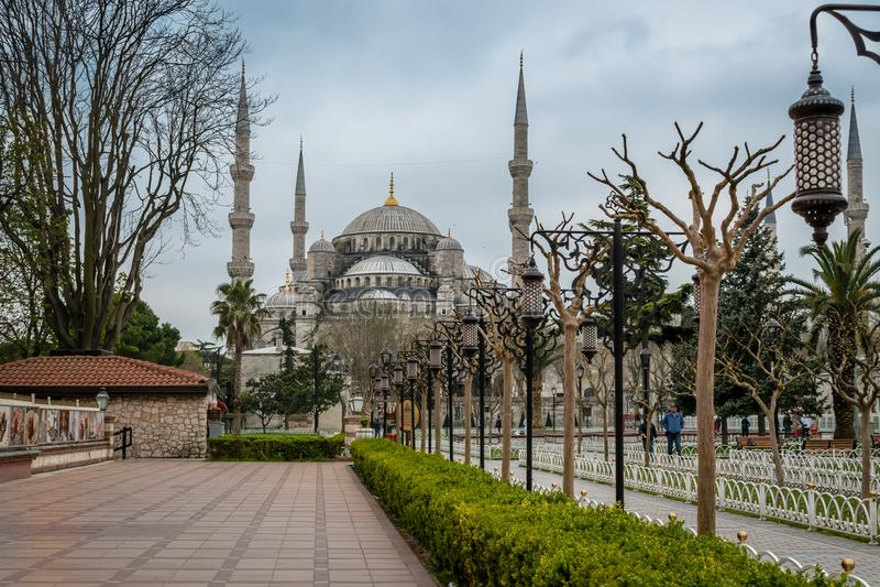 Sultan Ahmed Mosque/mesquita azul, Istambul, Turquia foto de stock royalty free
