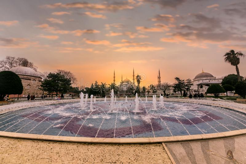 Sultan Ahmed Mosque ou bleu, Sultan Ahmet Mosque photo stock