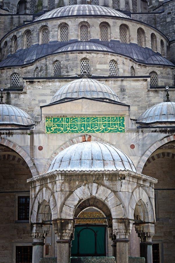 Sultan Ahmed Mosque som är bekant som den blåa moskén i Istanbul, Turkiet arkivfoto