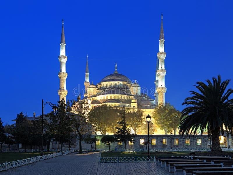 Sultan Ahmed Mosque in vroege ochtend, Istanboel, Turkije royalty-vrije stock foto