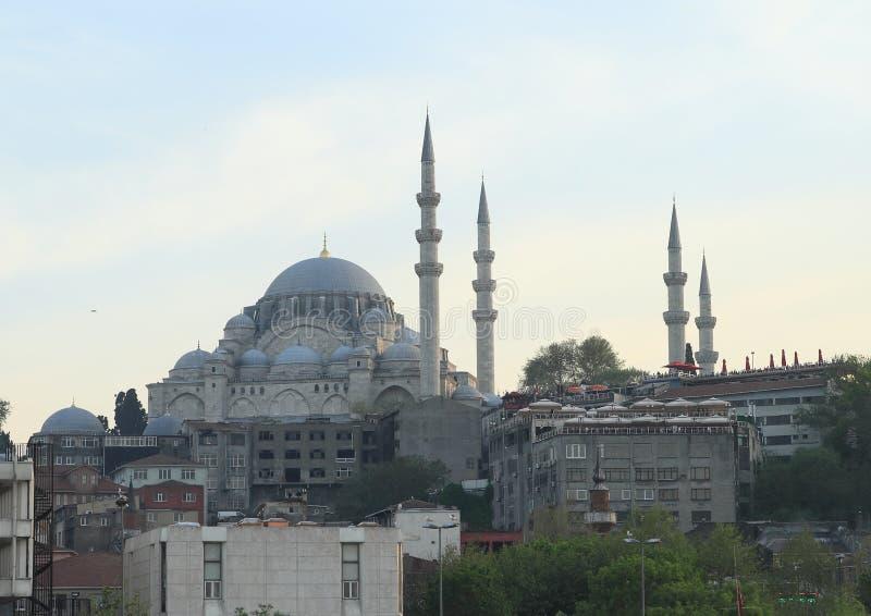 Sultan Ahmed Mosque während des Sonnenuntergangs lizenzfreie stockfotografie