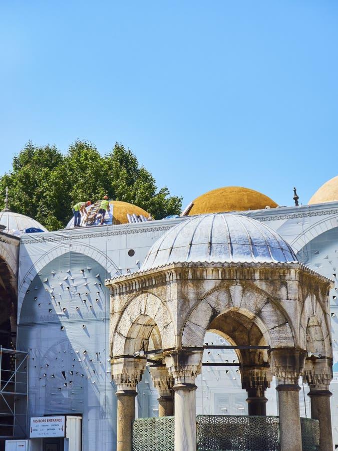 The Sultan Ahmet Camii mosque. Istanbul, Turkey. stock photo
