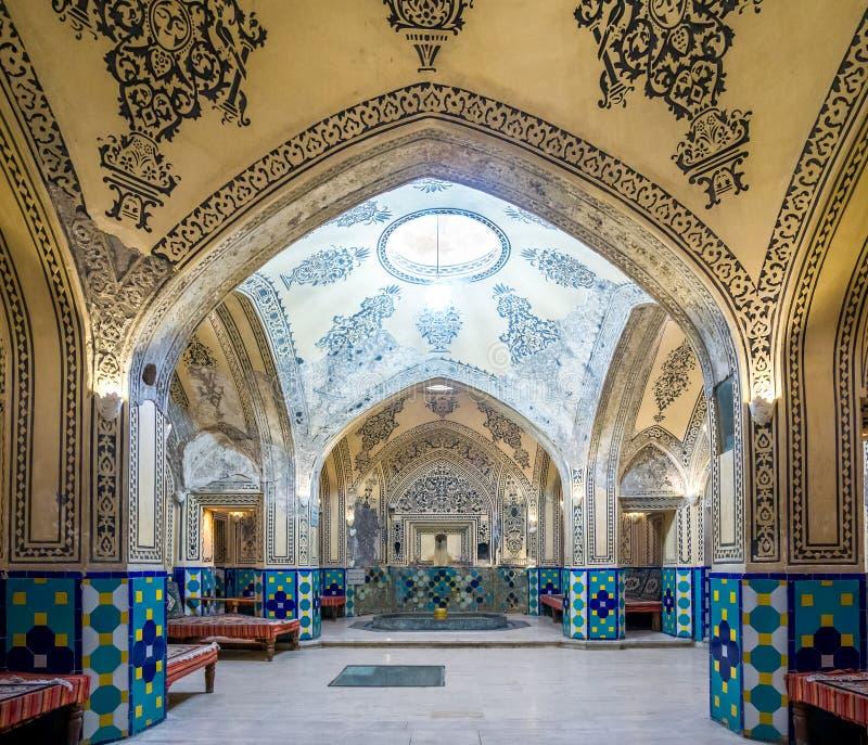 Sultan Amir Ahmad Bathhouse in Kashan - Iran royalty free stock images