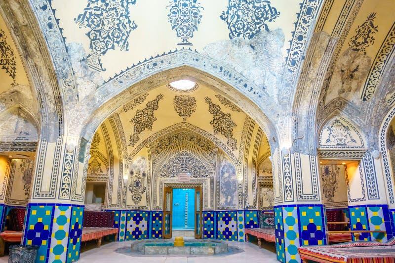 Sultan Amir Ahmad Bathhouse in Kashan, Iran stock photo