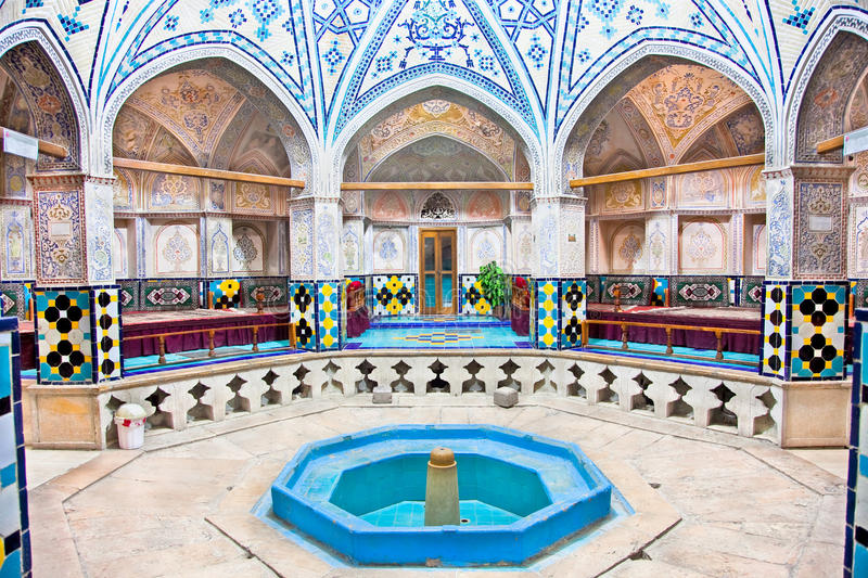 Sultan Amir Ahmad historic bath, Iran. Sultan Amir Ahmad historic bath, Kashan, Iran royalty free stock photos