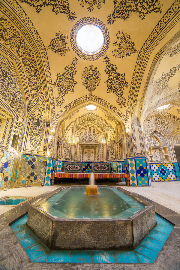 Sultan Amir Ahmad historic bath, Iran. Sultan Amir Ahmad historic bath, Kashan, Iran royalty free stock photo