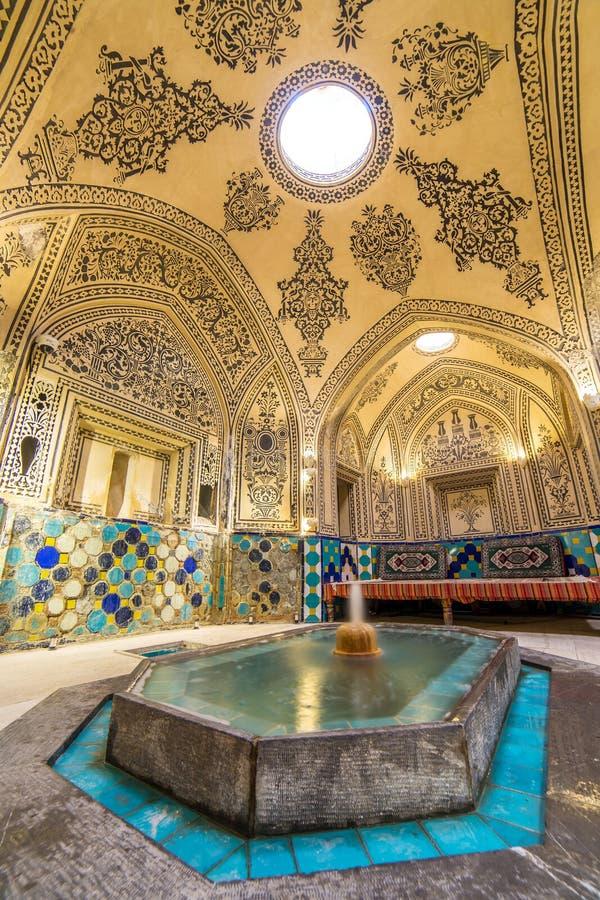 Sultan Amir Ahmad historic bath, Iran royalty free stock photos