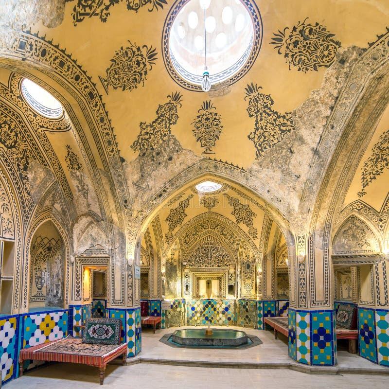 Sultan Amir Ahmad historic bath, Iran stock image
