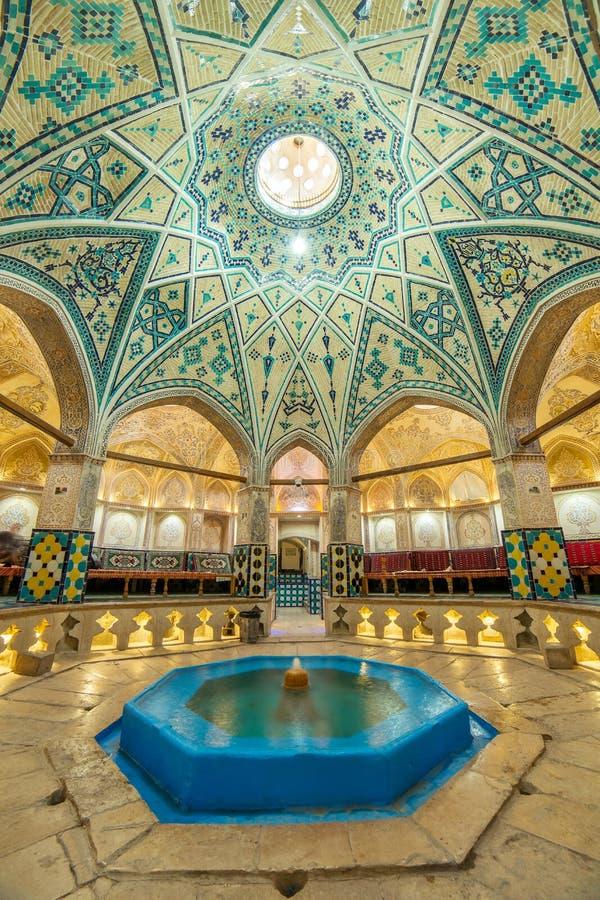 Sultan Amir Ahmad historic bath, Kashan stock image