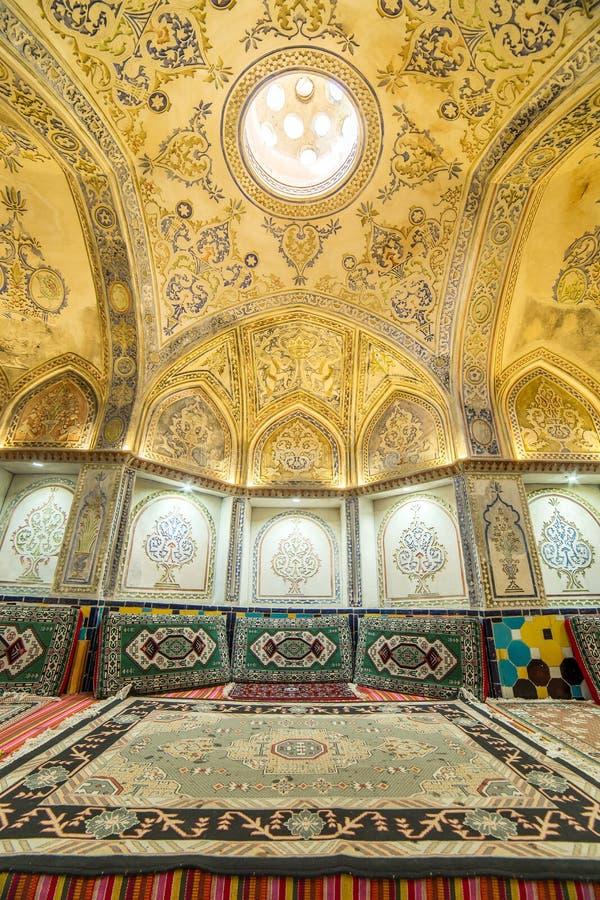 Sultan Amir Ahmad historic bath, Kashan stock photography