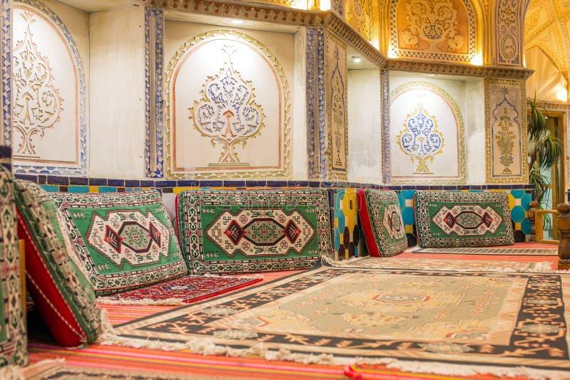 Sultan Amir Ahmad historic bath, Kashan, Iran stock photos