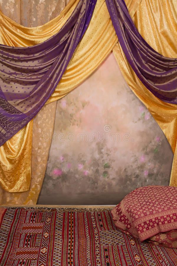 Sultan background. Background image that can be used as harem, sultan palace or fairytale oriental purposes stock image