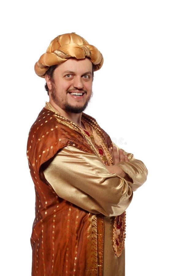 Sultan, Carnaval kostuum royalty-vrije stock afbeelding