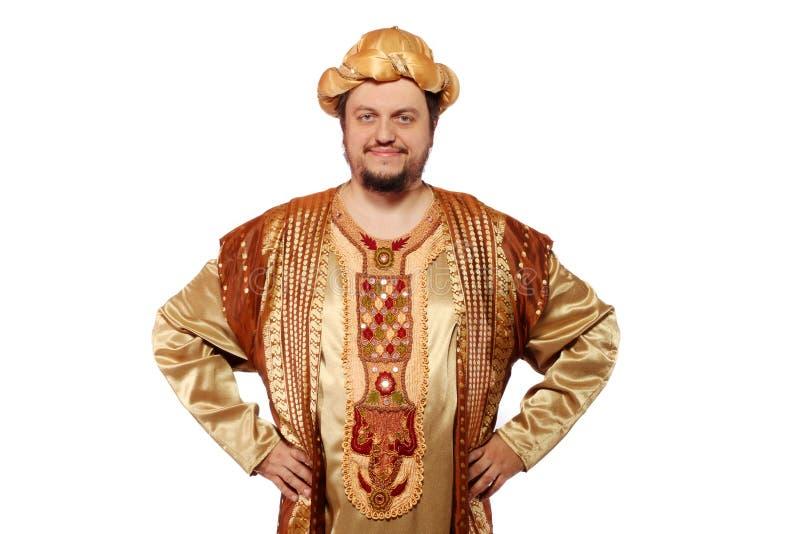 Sultan, Carnaval kostuum stock afbeelding