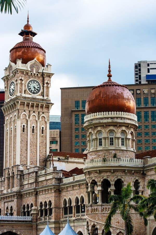 sultan för abdul byggnadssamad Gränsmärken av Kuala Lumpur arkivfoton