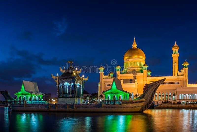 sultan för ali moskéomar saifuddin royaltyfri foto
