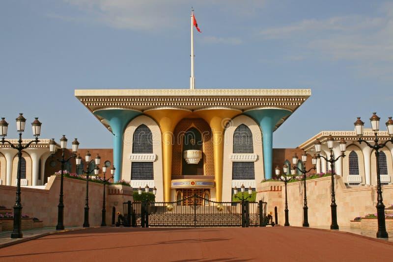 sultan för qaboos för almuscatoman slott arkivfoton